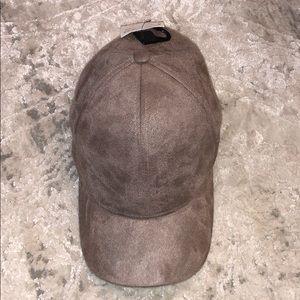Faux suede hat